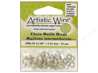 Artistic Wire Chain Maille Jump Rings 20 ga. 11/64 in. Silver 70 pc.