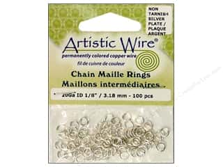 Jump Rings / Spring Rings: Artistic Wire Chain Maille Jump Rings 20 ga. 1/8 in. Silver 100 pc.
