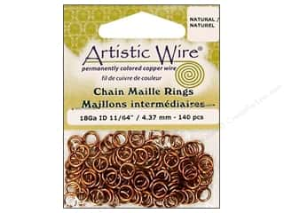 jump rings: Artistic Wire Chain Maille Jump Rings 18 ga. 11/64 in. Natural 140 pc.