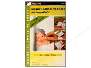 craft & hobbies: ProMag Magnetic Adhesive Sheet 5 x 8 in. 2 pc.