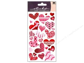 Valentines Day Gifts Stickers: EK Sticko Stickers Funky Hearts