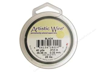 32 ga wire: Artistic Wire 28 ga. Copper Wire 40 yd. Black