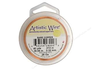 Yard Sale Darice Jewelry Wire: Artistic Wire 28 ga. Copper Wire 40 yd. Bare