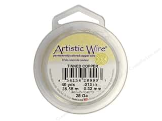 Yard Sale Darice Jewelry Wire: Artistic Wire 28 ga. Copper Wire 40 yd. Tinned