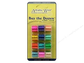22 ga wire: Artistic Wire 22 ga. Copper Wire 5 yd. Assorted Colors Dozen
