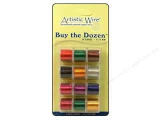 24 ga wire: Artistic Wire 24 ga. Copper Wire 5 yd. Assorted Colors Dozen