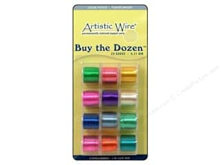 24 ga wire: Artistic Wire 24 ga. Copper Wire 5 yd. Assorted Colors Silver Plated Dozen