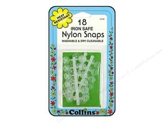 Nylon Snaps by Collins Clear 18 pc.