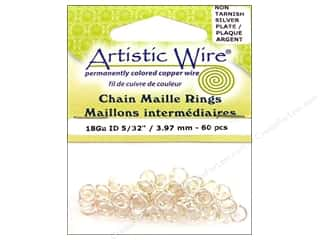 spring creating sale: Artistic Wire Chain Maille Jump Rings 18 ga. 5/32 in. Silver 60 pc.