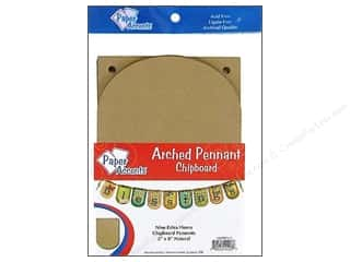 Paper Accents Chipboard Pennants 5 x 9 in. Arched 9 pc. Kraft