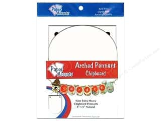 Paper Accents Chipboard Pennants 4 x 6 in. Arched 9 pc. White