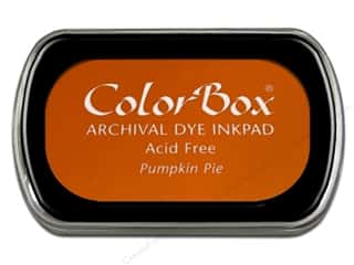 Clearance ColorBox Premium Dye Ink Pad: ColorBox Archival Dye Ink Pad Full Size Pumpkin Pie