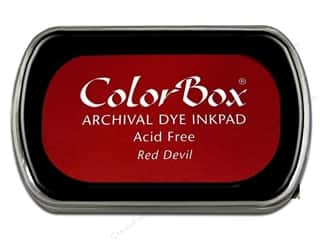 Clearance ColorBox Premium Dye Ink Pad: ColorBox Archival Dye Ink Pad Full Size Red Devil