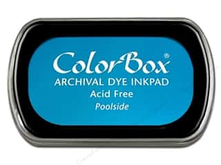 Clearance ColorBox Premium Dye Ink Pad: ColorBox Archival Dye Ink Pad Full Size Poolside