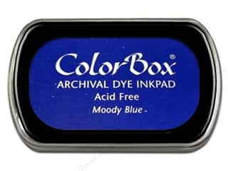 colorbox: ColorBox Archival Dye Ink Pad Full Size Moody Blue