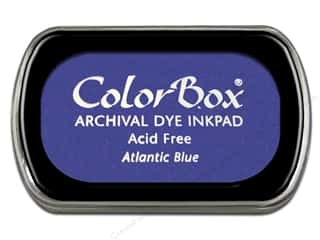 Clearance ColorBox Premium Dye Ink Pad: ColorBox Archival Dye Ink Pad Full Size Atlantic Blue