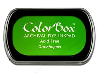 Clearance ColorBox Premium Dye Ink Pad: ColorBox Archival Dye Ink Pad Full Size Grasshopper