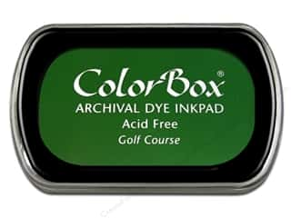 Clearance ColorBox Premium Dye Ink Pad: ColorBox Archival Dye Ink Pad Full Size Golf Course