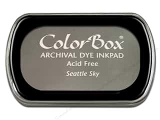 Clearance ColorBox Premium Dye Ink Pad: ColorBox Archival Dye Ink Pad Full Size Seattle Sky