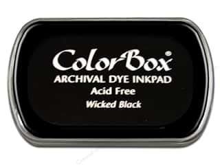 scrapbooking & paper crafts: ColorBox Archival Dye Ink Pad Full Size Wicked Black