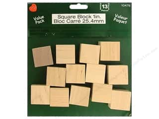 Lara's Wood Square Block Value Pack 1 in. 13 pc.
