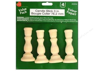 Lara's Wood Candle Stick Value Pack  3 in. 4 pc.