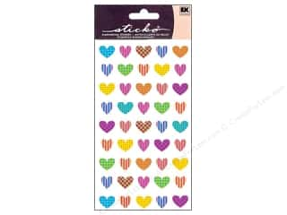 EK Sticko Stickers Repeats Colorful Heart