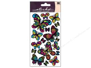 stickers: EK Sticko Stickers Stained Glass Butterfly