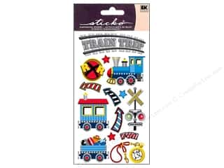 scrapbooking & paper crafts: EK Sticko Stickers Trains