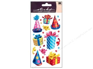 Theme Stickers / Collection Stickers: EK Sticko Stickers Party Hats and Presents