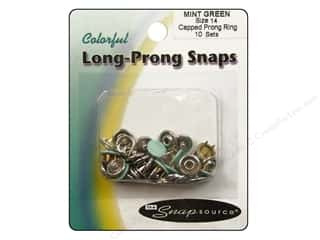 Snapsource Capped Prong Ring Snap Fasteners Size 14 Mint Green
