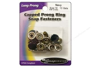Snapsource Capped Prong Ring Snap Fasteners Size 16 Navy