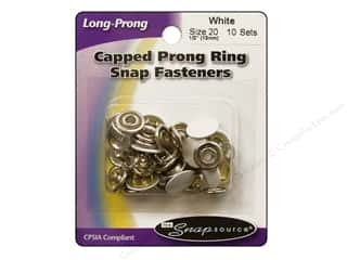 Better Homes : Snapsource Capped Prong Ring Snap Fasteners Size 20 White