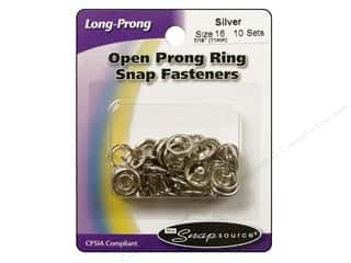Better Homes : Snapsource Open Prong Ring Snap Fasteners Size 16 Silver
