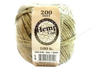 Darice Hemp Cord 100 lb. Waxed Natural 200 ft.