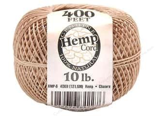 beading & jewelry making supplies: Darice Hemp Cord 10 lb. Natural 400 ft.