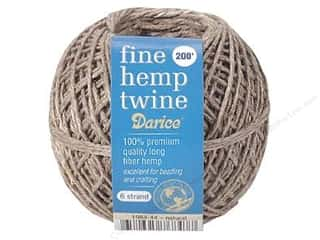 beading & jewelry making supplies: Darice Hemp Twine Fine 6 Strand 200 ft. Natural