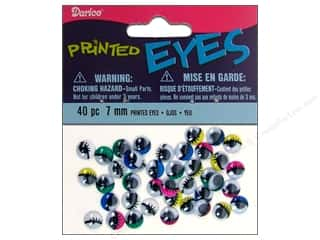Darice Googly Eyes Paste-On 7 mm Multi Printed 40 pc.