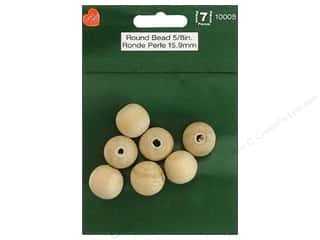 wood beads: Lara's Wood Round Bead 5/8 in. 7 pc.