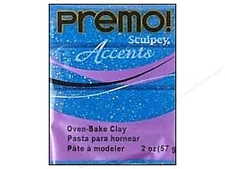 craft & hobbies: Premo! Sculpey Polymer Clay 2 oz. Blue Glitter