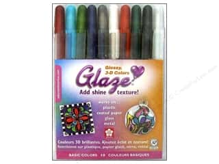 Sakura Glaze 3-D Glossy Ink Pen Set Basic 10 pc.