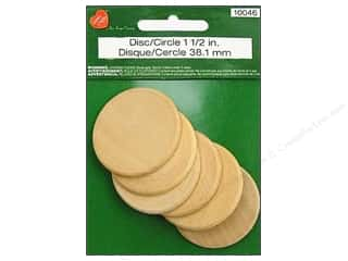 craft & hobbies: Lara's Wood Circle 1 1/2 in. 6 pc.