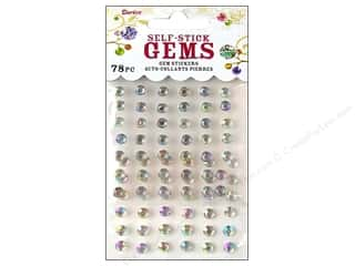 craft & hobbies: Darice Stick On Rhinestones - 5 mm Round 78 pc. Crystal Aurora Borealis
