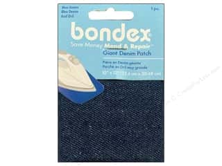 sewing & quilting: Bondex Iron On Patch 10 x 12 in. Blue Denim