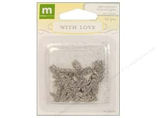 clearance Making Memories Pendant: Making Memories Metal With Love Wedding Glitter Word Love 10pc