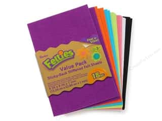 craft & hobbies: Darice Felties Felt Stickers 6 x 9 in. Sheet 18 pc. Bright