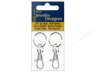 beading & jewelry making supplies: Darice Jewelry Designer Big Clasp with Hinge 2 pc. Silver Plated Large