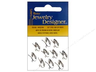 Darice Clip-On Earrings with Loop 10 pc. Silver