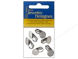 Darice Clip-On Flat Pad Earrings 6 pc. 10 mm Silver Plated