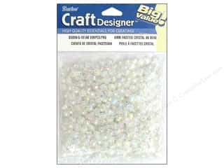 beading & jewelry making supplies: Darice Faceted Acrylic Beads 6 mm 500 pc. Crystal AB
